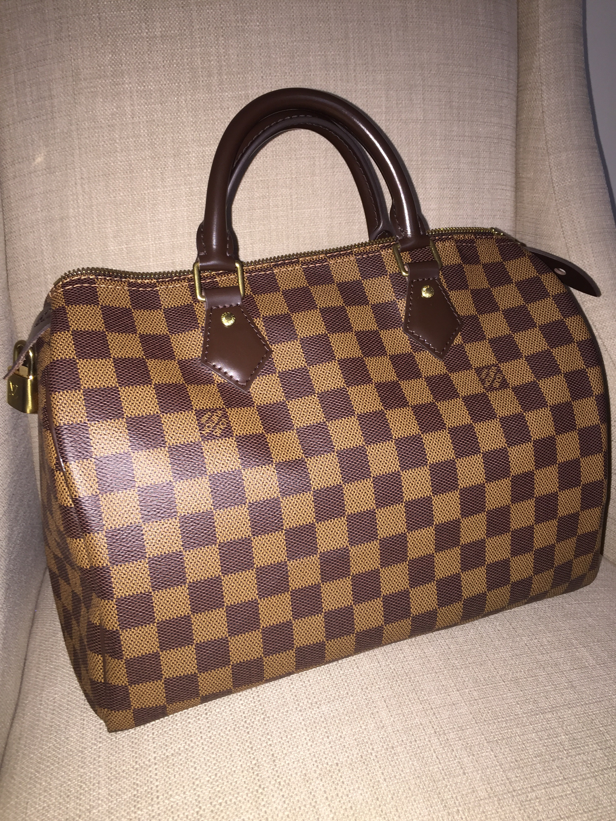 1354bbf686b7 Louis Vuitton Speedy 30 Damier Ebene – So Lush Lifestyle